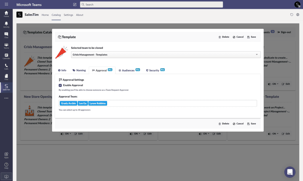 Microsoft Teams challenges: approval policy
